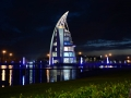 Cape Canaveral Exploration Tower at night