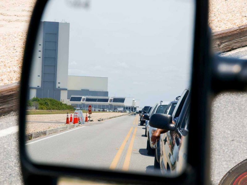 KSC Vehicle Assembly Building in my mirror
