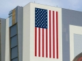 KSC Vehicle Assembly Building US Flag